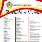Calendario eventi #REstateaVenosa2019