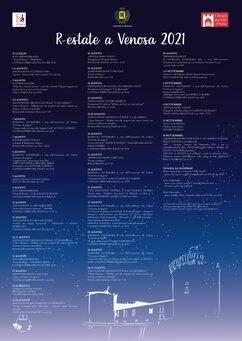 Calendario eventi #REstateaVenosa2021