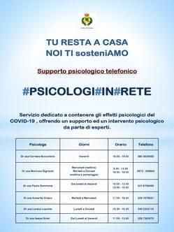 #PSICOLOGI#IN#RETE - Supporto psicologico telefonico