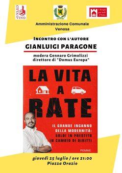 """""""La vita a rate"""" -  Incontro con l'Autore Gianluigi Paragone"""