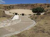 Viale di accesso alla parte ebraica delle Catacombe Ebraico - Cristiane di Venosa