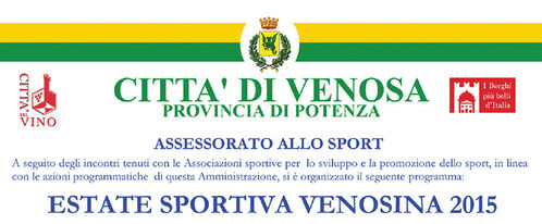 Estate Sportiva Venosina 2015