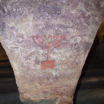 Menorah Catacombe Ebraico - Cristiane - Venosa