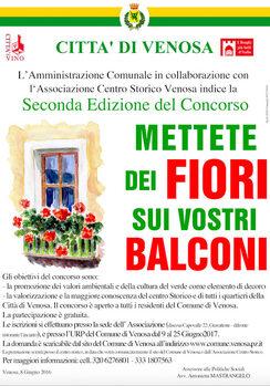 """Concorso """"Mettete dei fiori sui vostri balconi"""""""