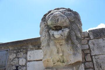 Leone epoca romana - Castello ducale del Balzo